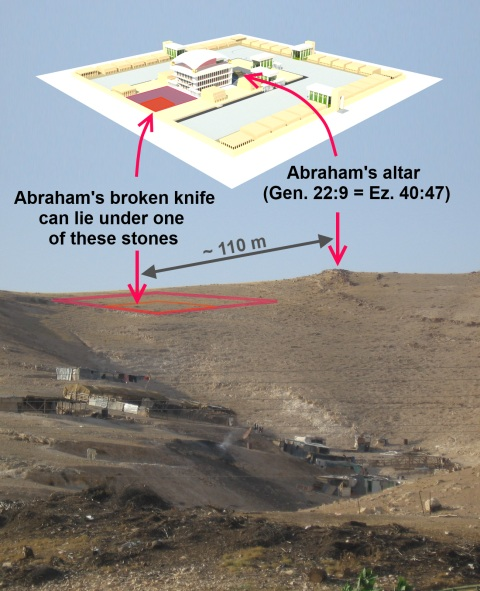 Jehovah-Jireh. Place the altar of the Third Temple.