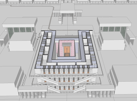 The Third Temple: geometry of the rooms of the Temple.