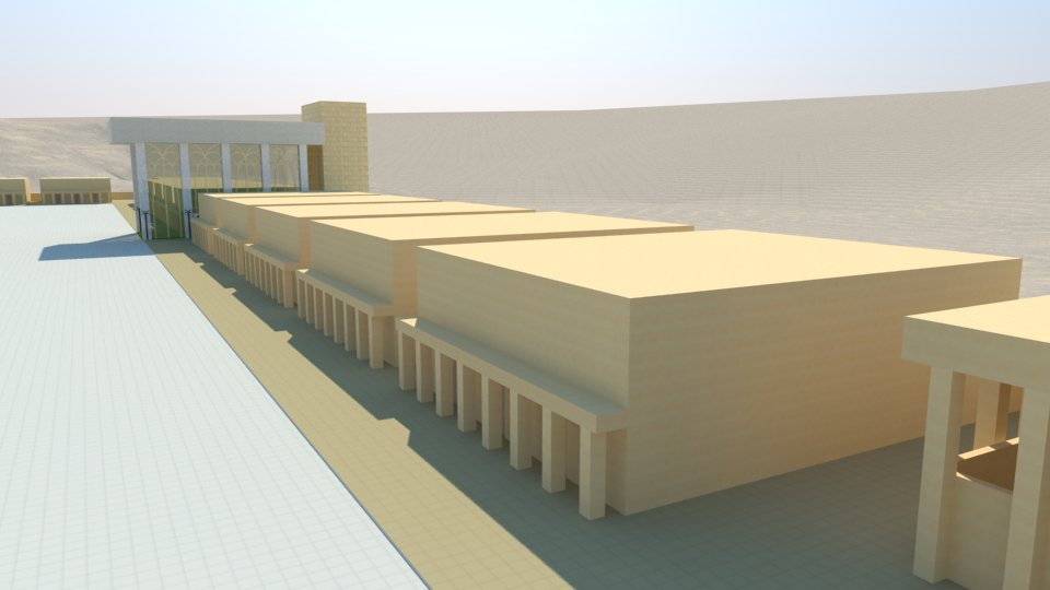 3D model of the Third Temple: 30 chambers, the restaurants.