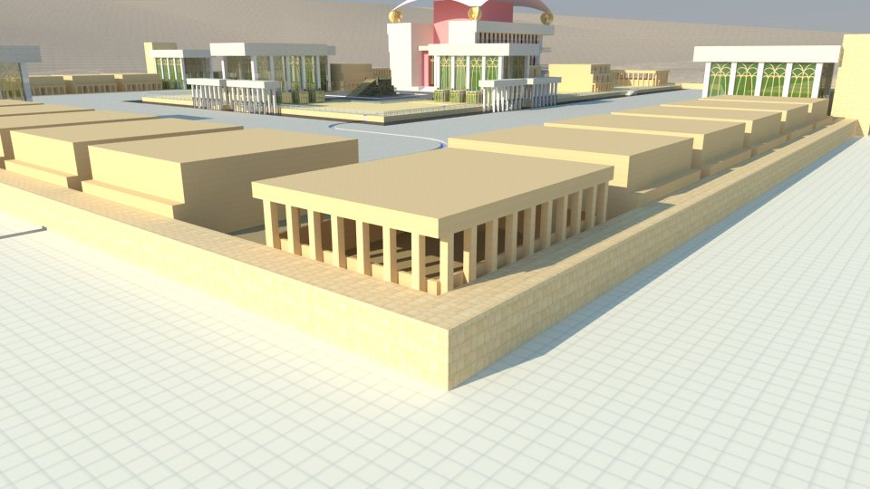 3D model of the Third Temple: the kitchen for the people.