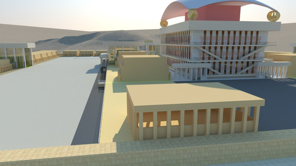 3D model of the Third Temple: the kitchen for the priesrs.