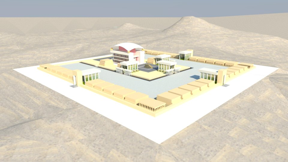 3D model of the complex of the Third Temple.