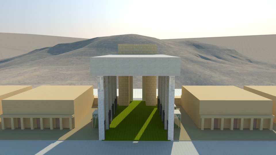 3D model of the Third Temple: the east gate.