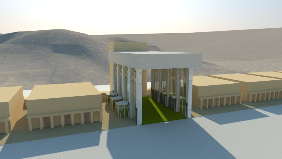 The Third Temple: the porches the east gate of the outer court. The prophecy of Ezekiel.